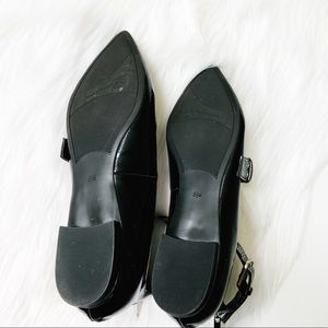 Marc Fisher Shoes - Marc Fisher Alen Mary Jane Flats Patent Black